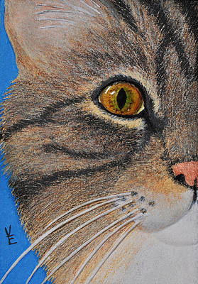 Brown Tabby Cat Sculpture Art Print by Valerie  Evanson