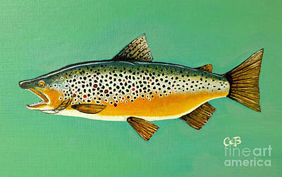Painting - Brown Trout by Chad Berglund