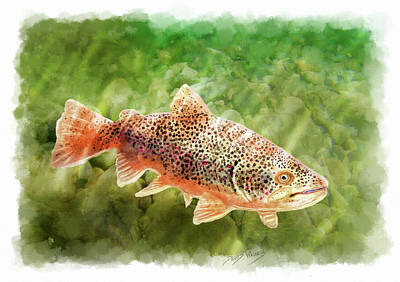 Painting - Brown Trout by David Wagner