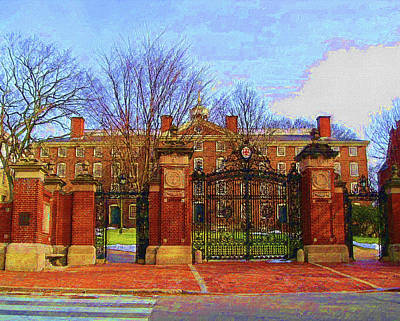 Mixed Media - Brown University by DJ Fessenden