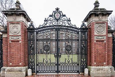 Brick Schools Photograph - Brown University Gate by Edward Fielding