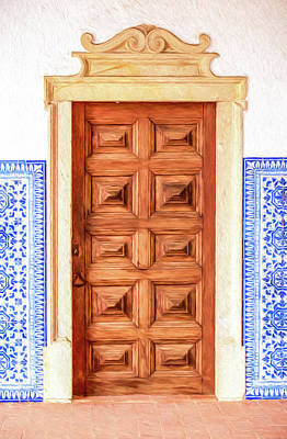 Photograph - Brown Wood Door Of Old World Europe by David Letts