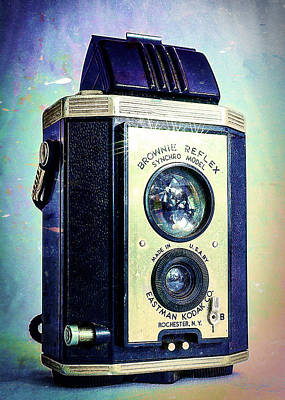Brownie Reflex Art Print by Jon Woodhams