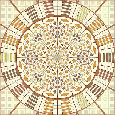 Brownish Mandala Art Print