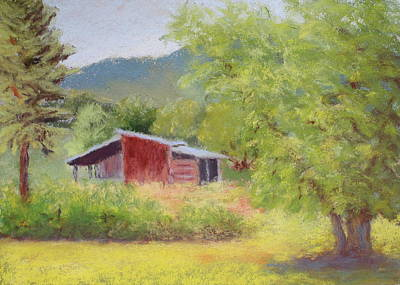 Art Print featuring the painting Brown's Shed by Nancy Jolley