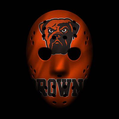 Browns War Mask 3 Art Print by Joe Hamilton
