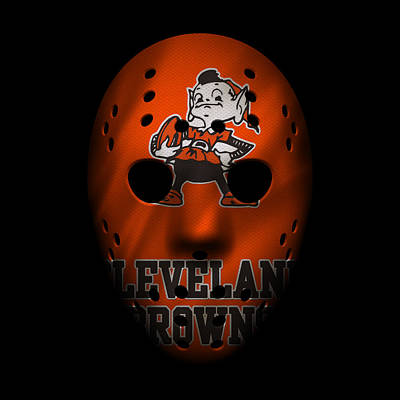 Browns Photograph - Browns War Mask by Joe Hamilton