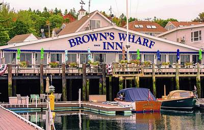 Photograph - Browns Wharf Inn Of Boothbay Harbor by Sherman Perry