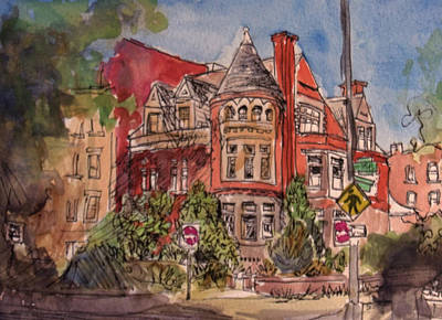 Wall Art - Painting - Brownstone On Corcoran Street by Elissa Poma