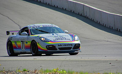 Photograph - Btr Racing Porsche Cayman  by Mike Martin