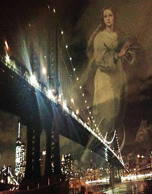 Brrooklyn Bridge Immaculate Mary Original by Tina Mancusi