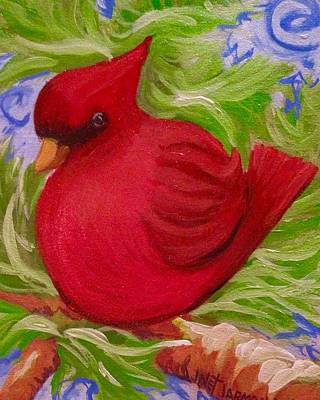 Painting - Brrr Bird by Jeanette Jarmon