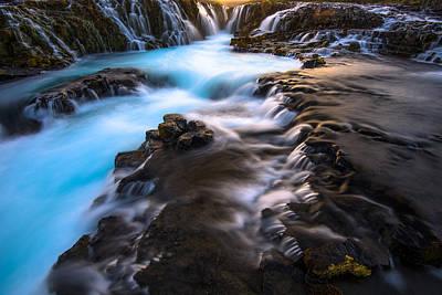 Photograph - Bruarfoss Iceland by Joseph Rossbach