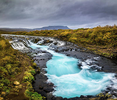 Photograph - Bruarfoss In The Gloom by Rikk Flohr