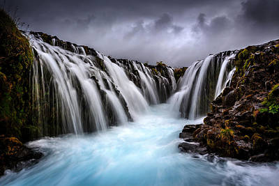 Waterfall Photograph - Bruarfoss by Sus Bogaerts