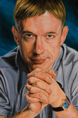 Steele Painting - Bruce C. Steele Portrait by Christopher Oakley