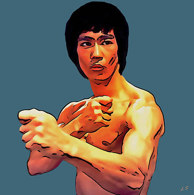 Drawing - Bruce Lee - 02 by Sergey Lukashin