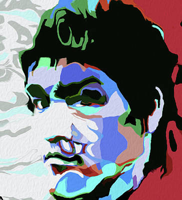 Mixed Media - Bruce Lee #1 By Nixo by Nicholas Nixo