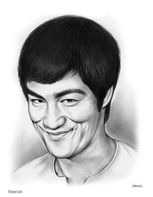 Hong Kong Drawing - Bruce Lee by Greg Joens