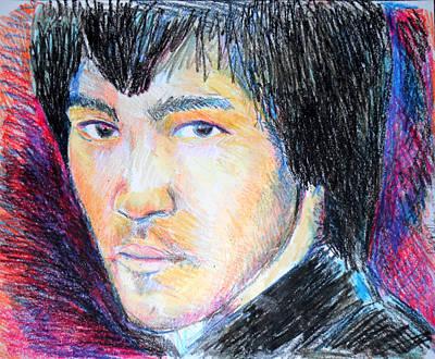 Kung Fu Drawing - Bruce Lee  by Jon Baldwin  Art