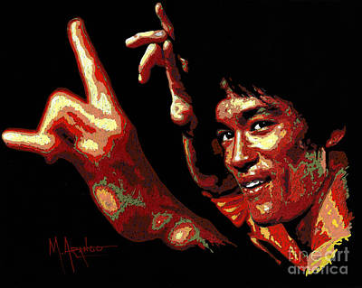 Painting - Bruce Lee by Maria Arango