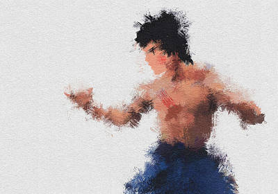 Bruce Lee Painting - Bruce Lee by Miranda Sether