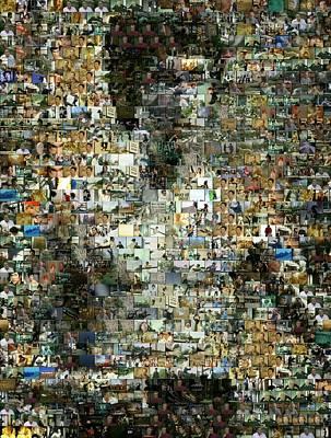 Kung Fu Mixed Media - Bruce Lee Mosaic by Paul Van Scott