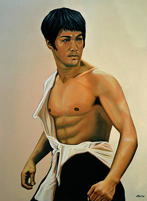 Bruce Lee Painting Art Print by Paul Meijering
