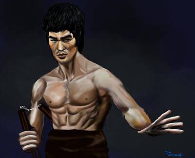 Bruce Lee Wall Art - Digital Art - Bruce Lee by Parag Pendharkar