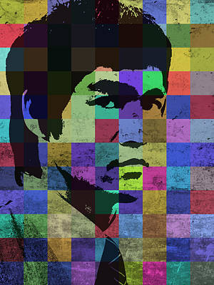 Bruce Lee Mixed Media - Bruce Lee Pop Art Portrait Iconic Colors by Design Turnpike