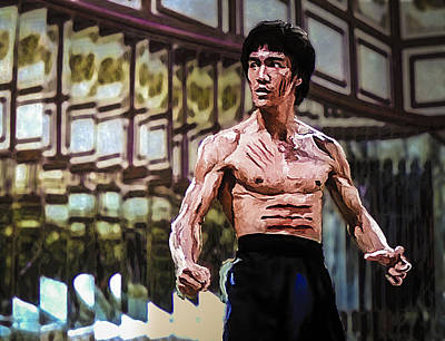 Painting - Bruce Lee by Rick Mosher