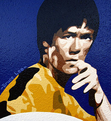 Valdes Painting - Bruce Lee by Roberto Valdes Sanchez