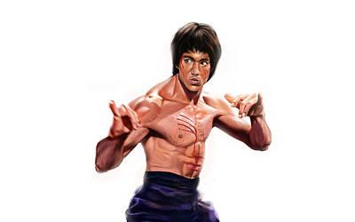 Bruce Lee Digital Art - Bruce Lee by Super Lovely