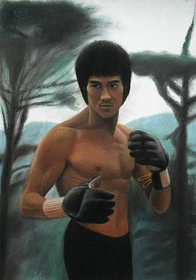 Painting - Bruce Lee - The Concentration  by Vishvesh Tadsare