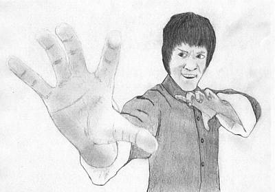 Kung Fu Mixed Media - Bruce Lee Tigers Claw by Chris Hall