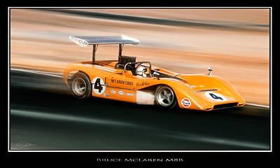Historic Racing Digital Art - Bruce Mclaren M8b by Peter Chilelli