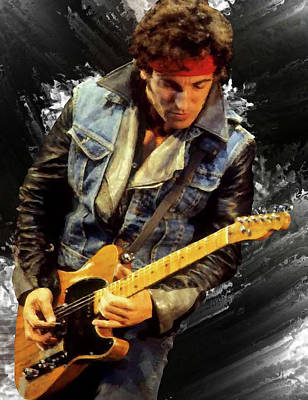 Bruce Springsteen Art Painting - Bruce Springsteen 2 by Brian Tones