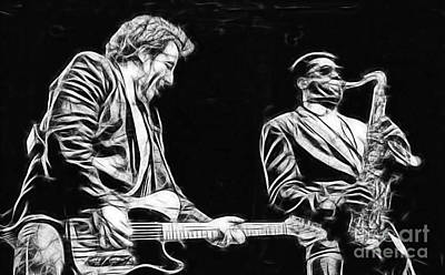 Bruce Springsteen Clarence Clemons Collection Art Print by Marvin Blaine