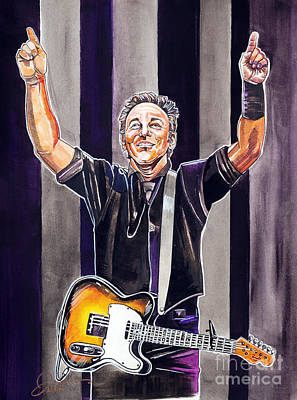 Bruce Springsteen Drawing - Bruce Springsteen by Dave Olsen