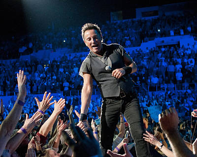 Photograph - Bruce Springsteen La Sports Arena by Jeff Ross