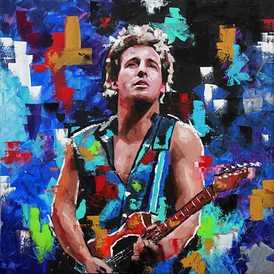 Painting - Bruce Springsteen by Richard Day