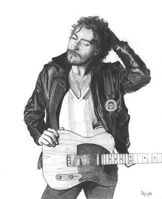Bruce Springsteen Drawing - Bruce Springsteen by Russell Griffenberg