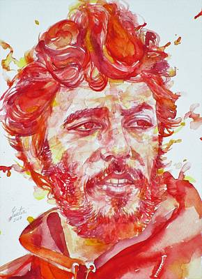 Painting - Bruce Springsteen - Watercolor Portrait.13 by Fabrizio Cassetta