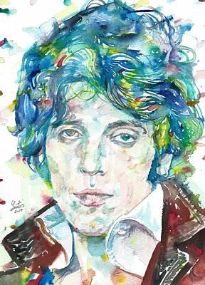Bruce Springsteen - Watercolor Portrait.14 Art Print