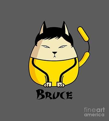 Zen - Bruce the Cat by Giordano Aita