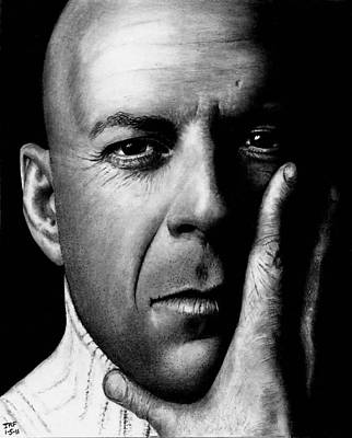 Drawing - Bruce Willis by Rick Fortson