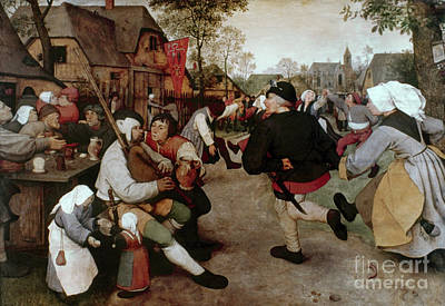 Painting - Bruegel, Peasant Dance by Granger