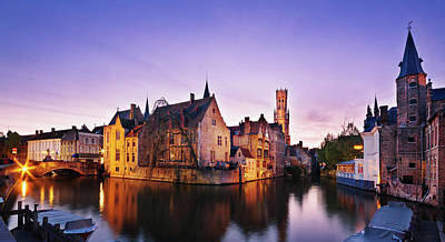 Photograph - Bruges At Dusk by Barry O Carroll