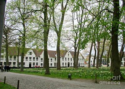 Photograph - Bruges Begijnhof 1 by Randall Weidner