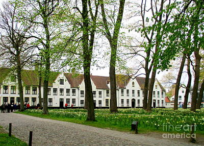 Photograph - Bruges Begijnhof 2 by Randall Weidner